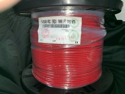 Belden Mini RG59 Digital Video Coax Cable 4.5 Ghz 75 Ohm 23 AWG SMPTE Red 1000'