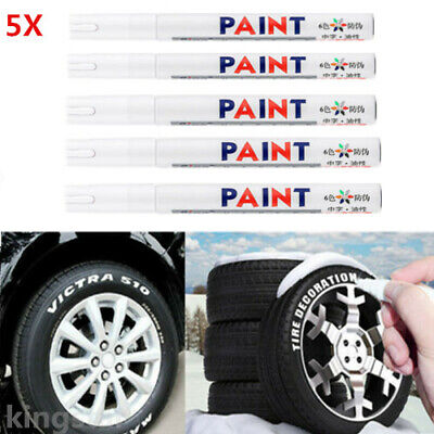 5X Car Tyre Tire Tread Rubber Paint Pen Markers Pen Permanent Waterproof For BMW