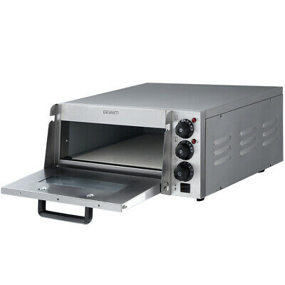 2000W  Pizza Oven Maker Electric Commercial Single Deck Stainless Steel