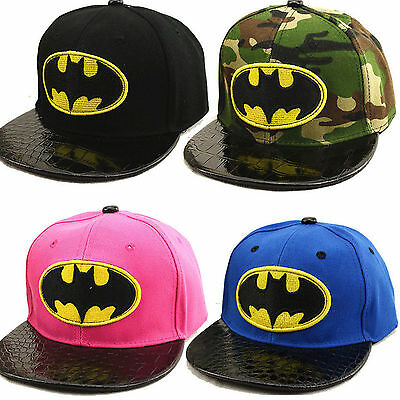 Kid Boy Girl Batman Baseball Cap Hip-hop Snapback School Sun Hat Adjustable AU