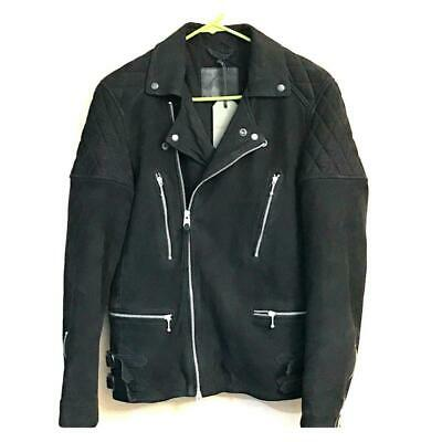 All Saints Woodley Biker Jacket Black New with tags