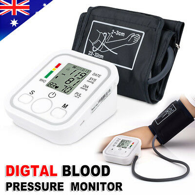 Upper Arm Automatic Digital Electronic Blood-Pressure Monitor Battery AU Stock