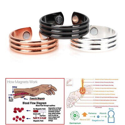 Copper Magnetic Ring Bio Healing Therapy Arthritis Pain Relief Unisex AdjustSize