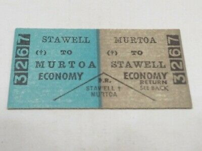 Victorian Railways Train Ticket Stawell To Murtoa