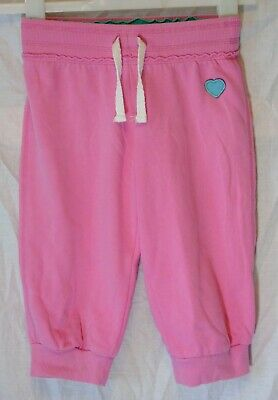 Girls Next Pink Cropped Capri Cuffed Dance Comfy Casual Joggers Age 8 Years