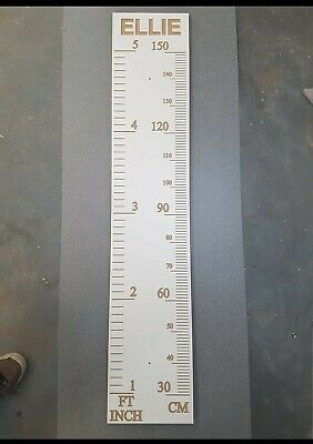 MDF personalised height chart
