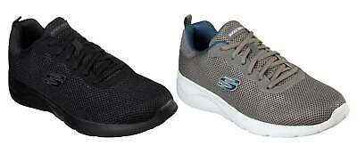 SKECHERS MENS BLACK Charcoal Grey Dynamight 2.0 Rayhill