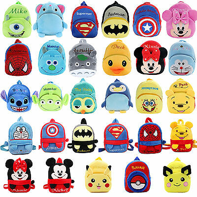 Toddler Kid Baby Boys Girls Mini Backpack Cartoon Animal Plush Small School Bags