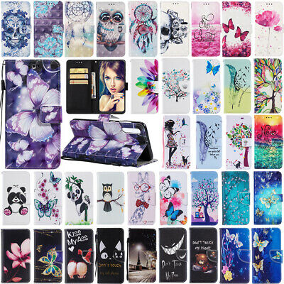 Color Case Cover For Samsung Galaxy A10 A20 A30 A40 A50 A70 Wallet Leather Flip