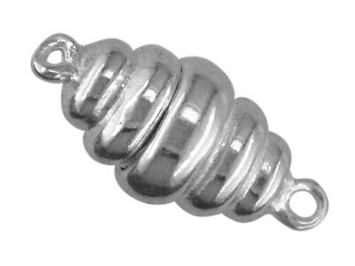 Sterling Silver Magnetic Clasp 20mm X 9mm 1 Row Corrugated