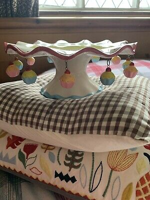 Dotcomgiftshop 12' Shabby Chic Hanging Cupcakes Yellow Pink Blue Cake Stand.