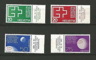 Suisse Helvetia 1963 Croix-Rouge 4 timbres neufs MNH /T6561