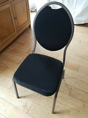 Charcoal and silver banqueting chairs x 8. Used once.