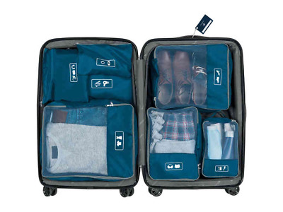 8 Pieces Suitcase Backpack Bag Lugguage Organisers Labelled With Tag Stress Free