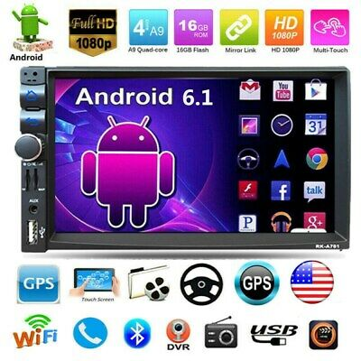"7"" inch Double 2 DIN Car MP5 Player Bluetooth Touch Screen Stereo Radio USB/AUX"