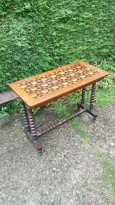 Stunning Antique Vintage Inlay Console Table