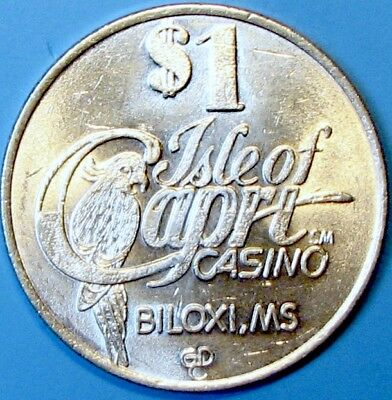 $1 Casino token. Isle of Capri, Biloxi, MS. H59.