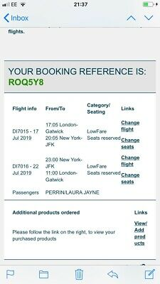 Flights To New York From London Gatwick for 17-22 July 2019