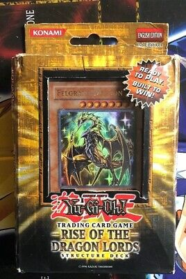 Yu Gi Oh Rise of The Dragon Lords COMPLETE Structure Deck! SDRL 1st Edition
