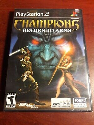 Champions: Return to Arms, factory sealed y-fold with seal (PlayStation 2/PS2)