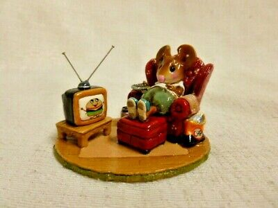 Wee Forest Folk Little Couch Potato Special Edition M-527 Mouse Figurine