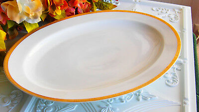 Berlin Bavaria White with Gold Trim Oval Serving Platter Antique in Great Cond