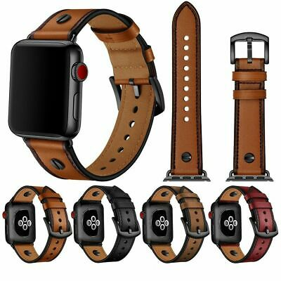 Luxury Leather Strap iWatch Band For Apple Watch Series 5/4/3/2 38/40MM 42/44MM