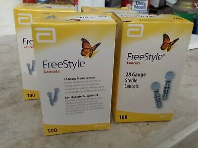 400 Freestyle  Abbott Lancets  FAST DELIVERY 4 Boxes 100 each Exp 8/20+