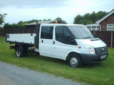 Ford Transit 2.2TDCi 155PS  350EF Double Cab C 350 LWB 3 way tipper