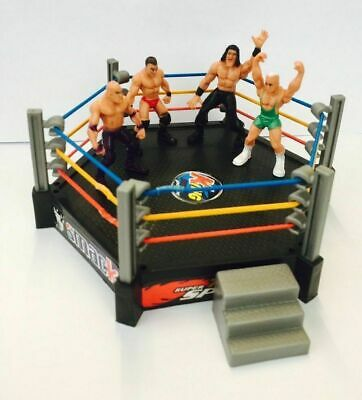 Wrestling Ring Playset With 12 Figure Kids Action wwe raw smack down Ring Toy