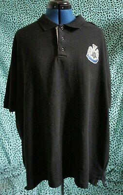 Newcastle United FC Official Football black Mens Crest Polo Shirt 2XL vintage
