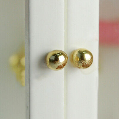 4 PCS Dollhouse miniature door knobs door fittings for doll house decoration IGP
