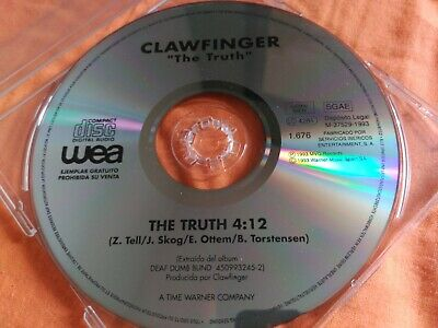 1 Track Promo Cd Single Clawfinger - The Truth - Wea Spain 1993 Vg+