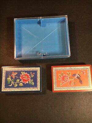Vintage Hallmark Two Deck Oriental Elegance Floral Playing Cards Sealed, USA