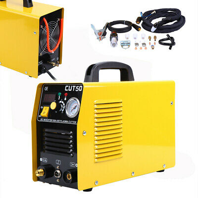 Plasma Cutter 50A Digital Inverter 110/220V Dual Voltage Plasma Cutting Machine