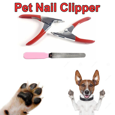 Pet Dog Cat Nail Toe Trimmer Cutter Claw Clippers Scissors File Grooming Tools