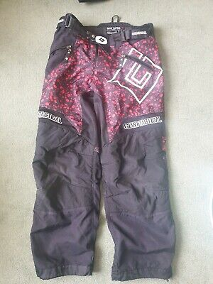 Paintball Giant Tactical Playing Pants Large L  Black Red Pebble Design