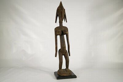 """Thoughtfully Carved Female Bamana Statue 30"""" 