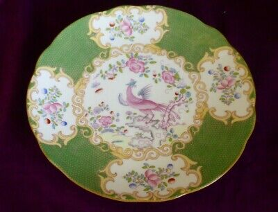 Lovely Minton Green Cockatrice Phoenix 4863    Antique Plate 22.5cm