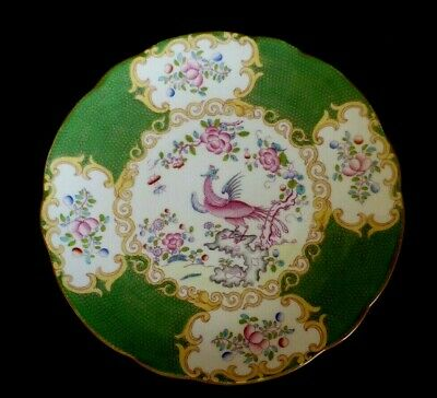 Minton Phoenix Green Cockatrice 4863    Antique Plate 22.5cm