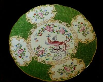 Antique  Minton Green  Cockatrice 4863   Plate 22.5cm