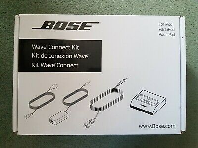Genuine Bose Wave Connect Kit Lifestyle for Apple Ipod 30 pin brand new in box