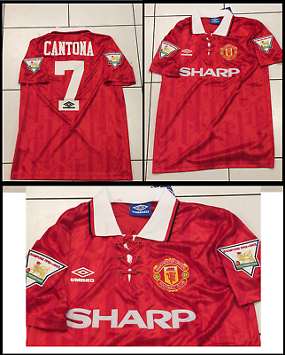 online store 3bc3d f8def MANCHESTER UNITED 1992/1993/1994 Home Football Shirt Jersey Cantona Small