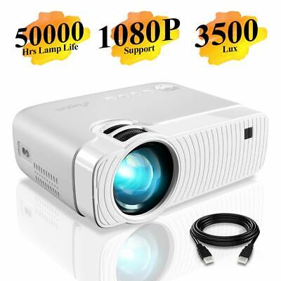 """Mini Projector, ELEPHAS 3500 Lux Portable Projector Max 180"""" Display 1080P"""