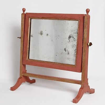 UPCYCLED GEORGIAN SWING MIRROR MAHOGANY REGENCY ANTIQUE c.1820 17.5 in H