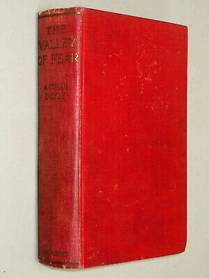 THE VALLEY OF FEAR. Conan Doyle 1915 2nd Imp Sherlock Holmes FRANK WILES frontis