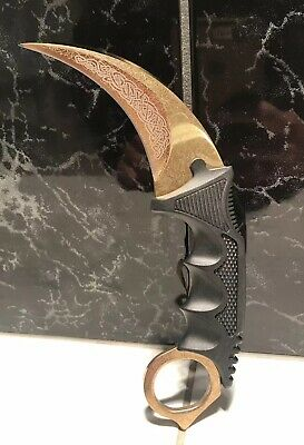 KARAMBIT CSGO Neck Knife LORE Outdoor Survival Hunting Sheath