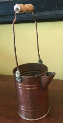 Vintage Solid Copper Watering Can Nice Condition  Hammered