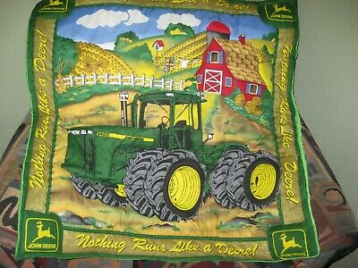 John Deere Baby Quilt Finished 34x34 3D Decorative Stitched/ Wall Hanging