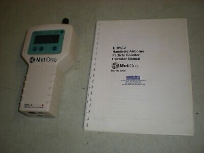 Met One HHPC-2 Airborne Particle Counter w/Manual - No accessories - Powers up